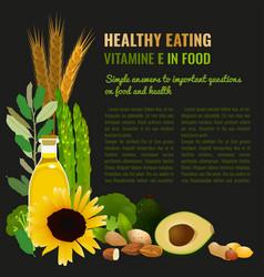 Healthy food vitamin e banner vector