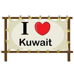 I love kuwait vector