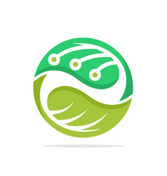 Icon with concept green technology vector
