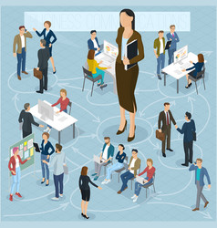 Isometric people set vector
