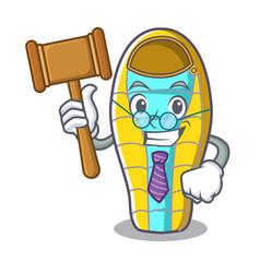 Judge sleeping bad mascot cartoon vector