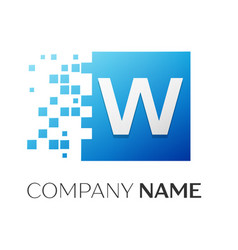 letter w logo symbol in the colorful square with vector image