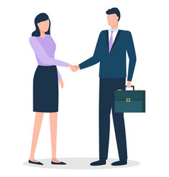 man and woman on meeting business agreement vector image