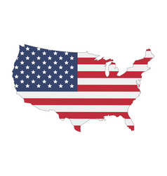 map united states america flag vector image