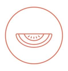 Melon line icon vector image