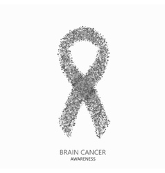 modern brain cancer awareness circles vector image