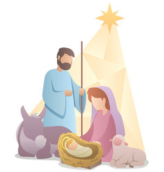 Nativity scene flat design vector