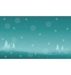 New year and Christmas winter landscape vector
