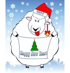 New year lamb 2016 vector image