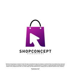 Online shop logo design concept online shopping vector
