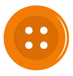 Orange sewing button icon isolated vector