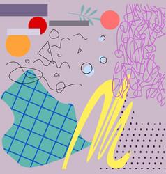 pastel art applique with geometric elements vector image