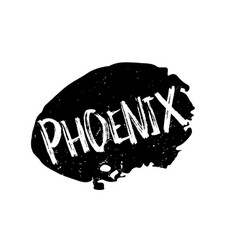 Phoenix rubber stamp vector