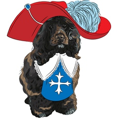 Portuguese Water Dog musketeer vector