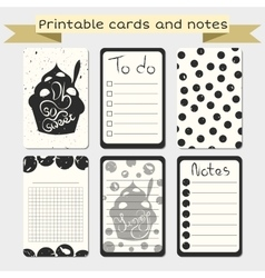 Printable journaling cards Notes designs vector