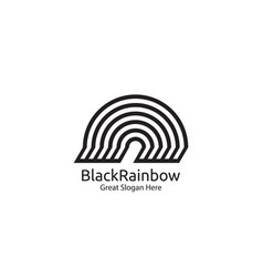 rainbow logo icon symbol abstract dome vector image