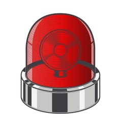 Red emergency siren vector image