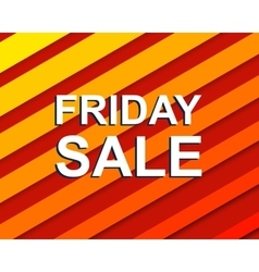 Red striped sale poster with FRIDAY SALE text vector image