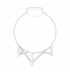Round container for liquids icon outline style vector