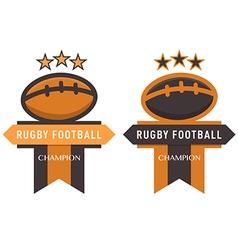 rugfootball badge vector image