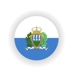 San Marino icon circle vector image