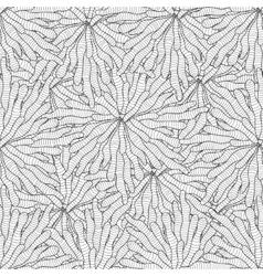 seamless entangle seaweed wave hand drawn pattern vector image