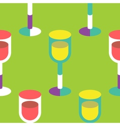 Seamless Wine Glass pattern vector image