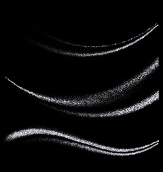 set of abstract wavessilver particles vector image