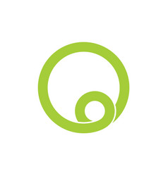 Simple circle loop line art logo vector