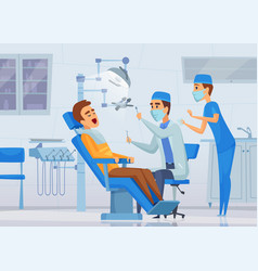 stomatology clinic medical stuff dentists vector image