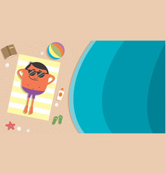 summer beach man vector image
