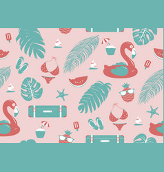 Summer seamless pattern design vector