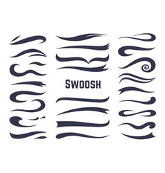 swooshes and swashes underline swish tails for vector image