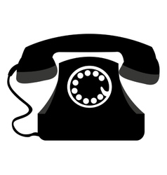 telephone retro isolated icon vector image
