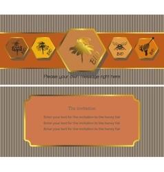 The invitation 2 vector image