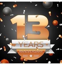 Thirteen years anniversary celebration background vector