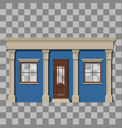 Traditional small shop facade vector