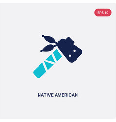Two color native american tomahawk icon from vector