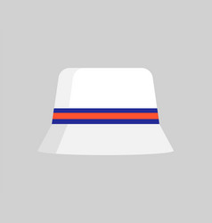 Vogue summer hat colorful vector