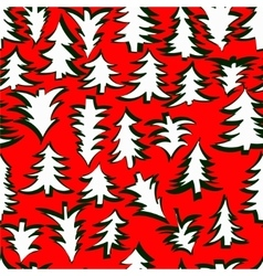 fir seamless pattern vector image