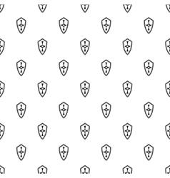 Heraldic shield pattern simple style vector image vector image
