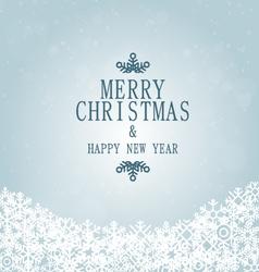 xmas and happy new year snowflakes vector image