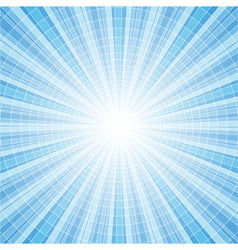 Abstract blue radial rays vector image vector image