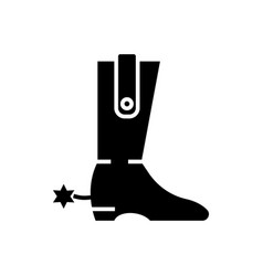boot - cowboy icon black vector image