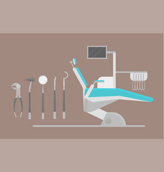 flat health care dentist chair research medical vector image vector image