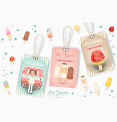 ice cream tags vector image