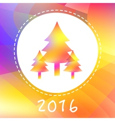 NY2016 Color Trees vector image