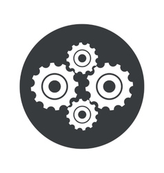 Monochrome round cogs icon vector image vector image