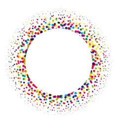 ring of colorful dots scattered around modern vector image