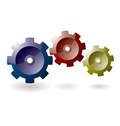 cog icon symbol vector image vector image